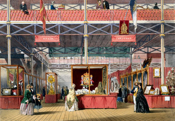Spanish and Portugese stand at the Great Exhibition  Crystal Palace  1851.