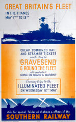 'Great Britain's fleet in the Thames'  1937.