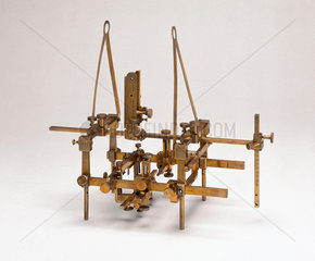 Brass stereotaxic apparatus  English  c 1905.