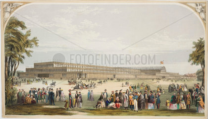 View of the Crystal Palace  Hyde Park  London  1851.