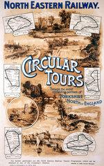 'Circular Tours'  NER poster  c 1920.