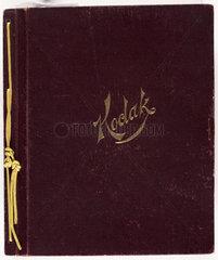 Album containing photographs taken using a Kodak No 1 camera  c 1890s.