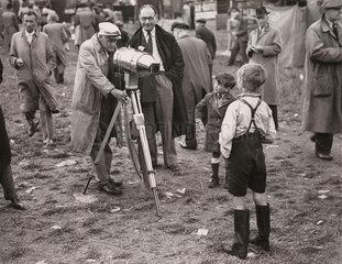 Derby Eve at Epsom  Surrey  June 1947.