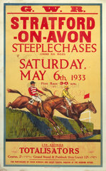 'Stratford-on-Avon Steeplechases'  GWR poster  6 May 1933.