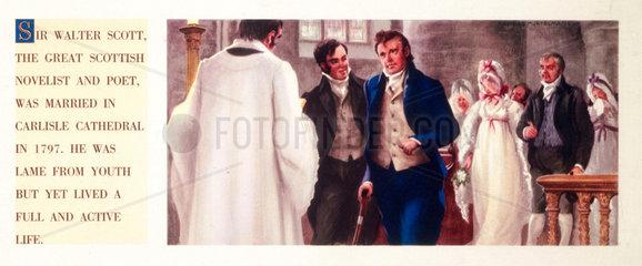 'Marriage of Sir Walter Scott ' 1797  (c 1950s).