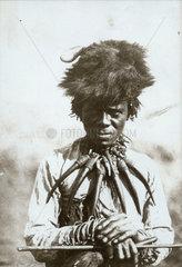 Zulu medicine man  South Africa  1900-1925.