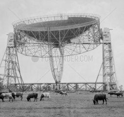 Jodrell Bank radio telescope  27 June 1957.