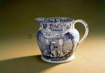 Staffordshire jug commemorating the opening of the LMR  1830.