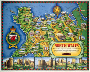 'North Wales'  BR(LMR) poster  1960.