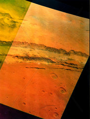 Part of Valles Marineris  the 'Grand Canyon' of Mars  1976.