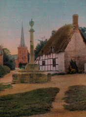 Thatched cottage  c 1910-1915.