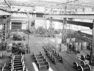 Wheels at Newton Heath works  Greater Manchester  6 March 1927.