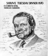 Charles Drew  English thoracic surgeon  1970.