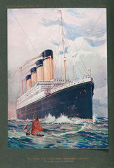 'The White Star Triple-screw Steamship Olympic'  1911.
