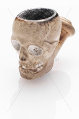 Tobacco pipe in the form of a skull  French  1845-1900.