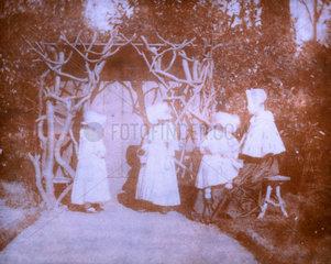 A woman and Fox Talbot's three children  19