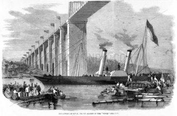 'Departure of Prince Albert in the 'Vivid' Steamer'  1859.