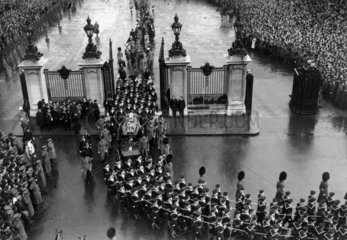 King George V's funeral  London  28 January 1936.