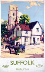 'Suffolk'  LNER poster  1923-1947.