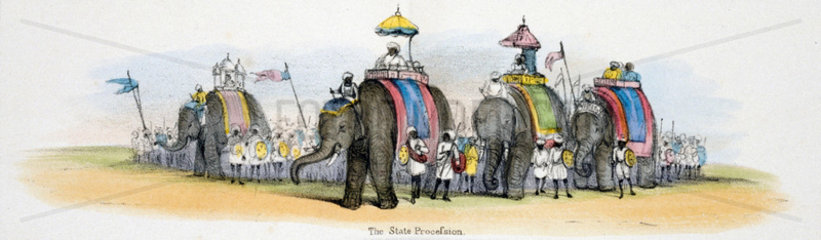 'The State Procession'  c 1845.
