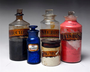 Selection of shop rounds and a dispensing pot  1801-1900.