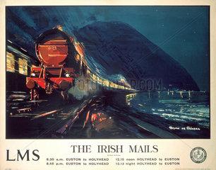 'The Irish Mails'  LMS poster  1923-1947.