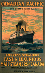 'Canadian Pacific'  SECR poster  1914.