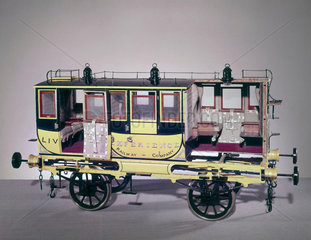 First class carriage of the Liverpool and