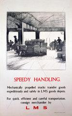 'Speedy Handling'  LMS poster  1923-1947.