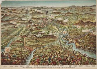 'Siege of Ladysmith - a Bird's-Eye View'  1900.