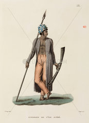 Warrior from the island of Guebe  1817-1820.