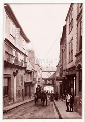 'Totnes  Eastgate and High Street'  c 1880.