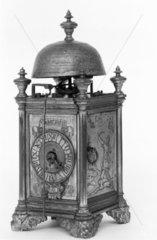 Copper-gilt chamber clock  Italy  1656.