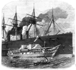 Shipping cable on Great Eastern  1865.