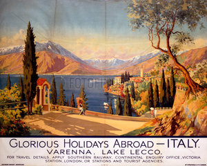 'Glorious Holidays Abroad - Italy'  SR poster  1928.