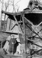 German 15 inch naval gun called 'Little Bertha'  Western Front  1918.
