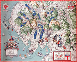 'A Map of the Lake District'  LMS poster  1923-1947.