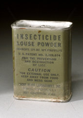 Insecticide powder for delousing  1939-1945.