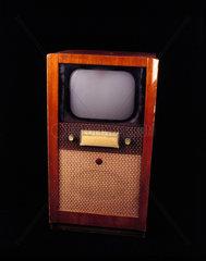 HMV monochrome television  c 1951.