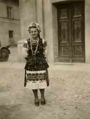 Young woman in traditional costume  Balkans  Second World War  1940s.