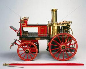 Vertical cylinder steam engine  c 1885.