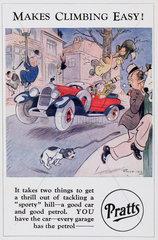 'Makes Climbing Easy!'  c 1920.