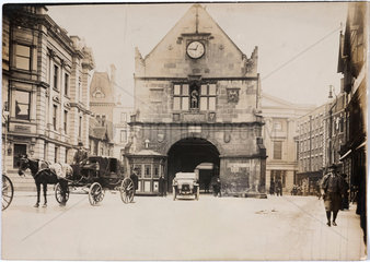 Vehicle parked in The Square  Shrewsbury  Shropshire  c 1912.