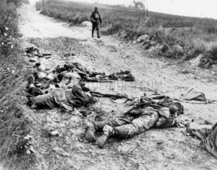 Road to Chipilly  German dead after the August offensive  1914-1918.