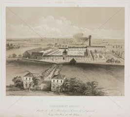 Agricultural factory  Belgium  1830-1860.