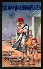 'Belgian Watering Places'  Belgian State Railway poster  c 1930s.
