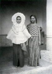 A portrait of two Mexican women  1896.