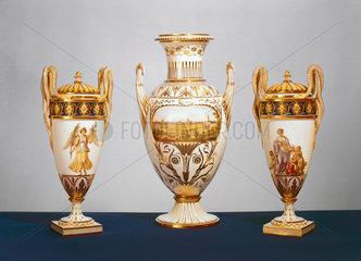 Group of Meissen vases  c 1820.