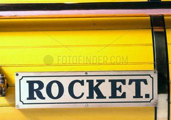 Stephenson's 'Rocket'  1829. Close up detai