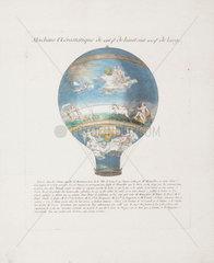 'Le Flesselles' hot-air balloon  January 1784.